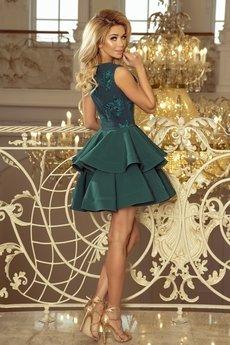 Bird - Sukienka koktajlowa z koronkowym gorsetem