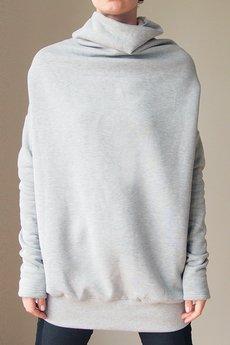 ONE MUG A DAY - Szary golf buka bluza oversize