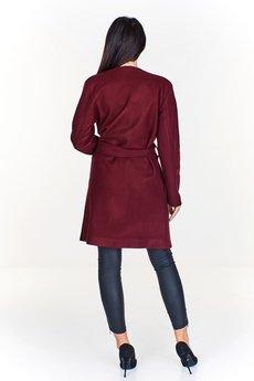 Bird - Wiązany monochromatyczny płaszcz