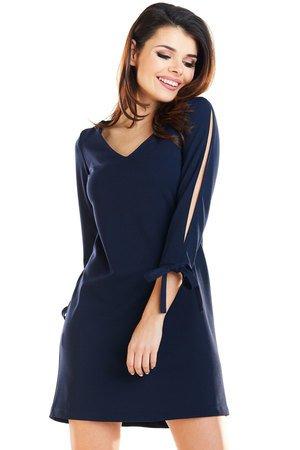 Klasyczna, trapezowa sukienka mini B257