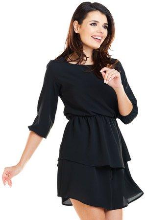 Sukienka mini delikatna i zmysłowa B258