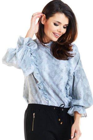 Efektowna bluzka z delikatnej tkaniny B259