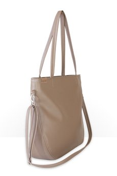 hairoo - Pacco bag beżowa torebka z dodakowym długim paskiem
