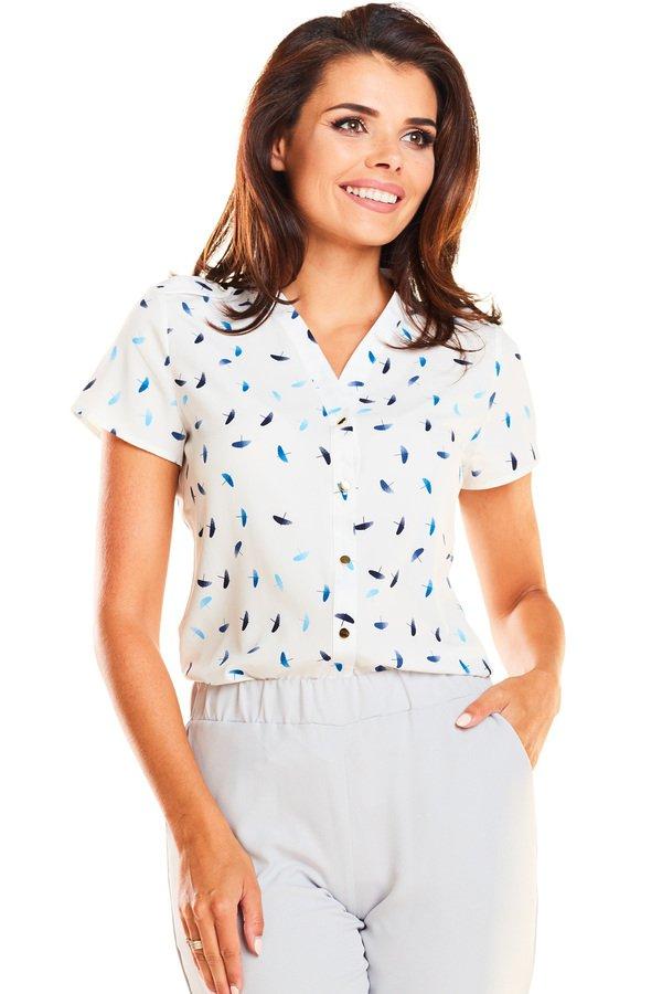 8ec70033e92d12 Koszula Z Krótkim Rękawem B242 - Wiele Kolorów | Awama | Koszule Damskie |  Mustache.pl
