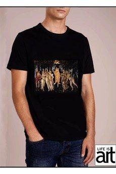 "Life is ART - T-shirt : "" Botticelli - wiosna"