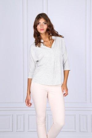 Bluzka damska koszulowa we wzory