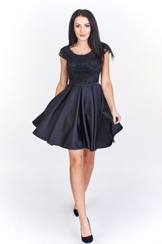 Bird - Rozkloszowana sukienka koktajlowa