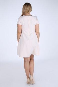 Bird - Sukienka trapezowa z krótkimi rękawami