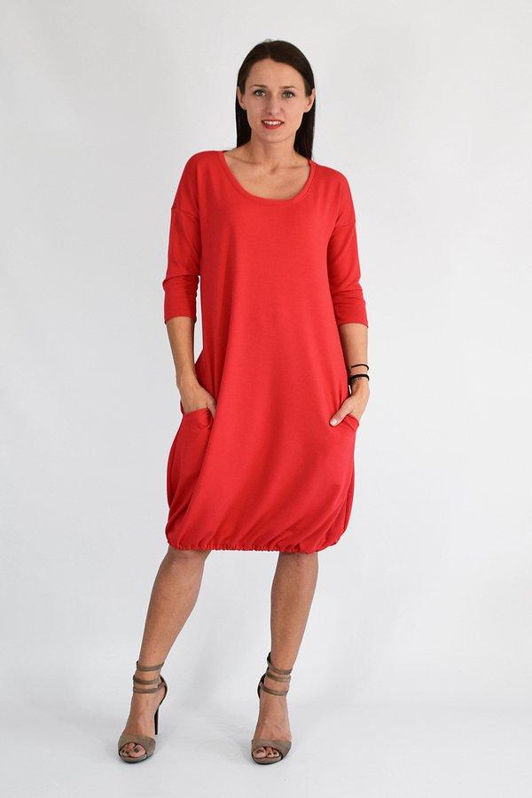 816cbee069 Sukienki Dresowe Sukienki z Kieszeniami Sukienki Rękaw 3 4 Sukienki  Bawełniane