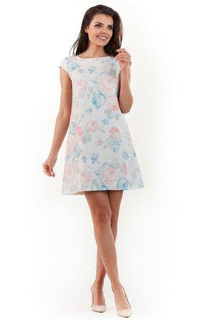 Sukienka mini w kwiaty B226