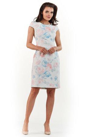 Sukienka mini w kwiaty B225