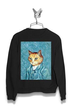 Bluza Kit van Gogh or Vincent van Cat Damska