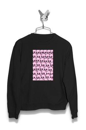 Bluza pattern Pink Skull Damska