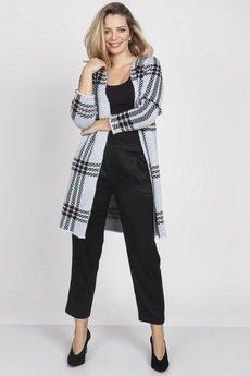 MKM swetry - Płaszcz w kratę, PA005 MKM