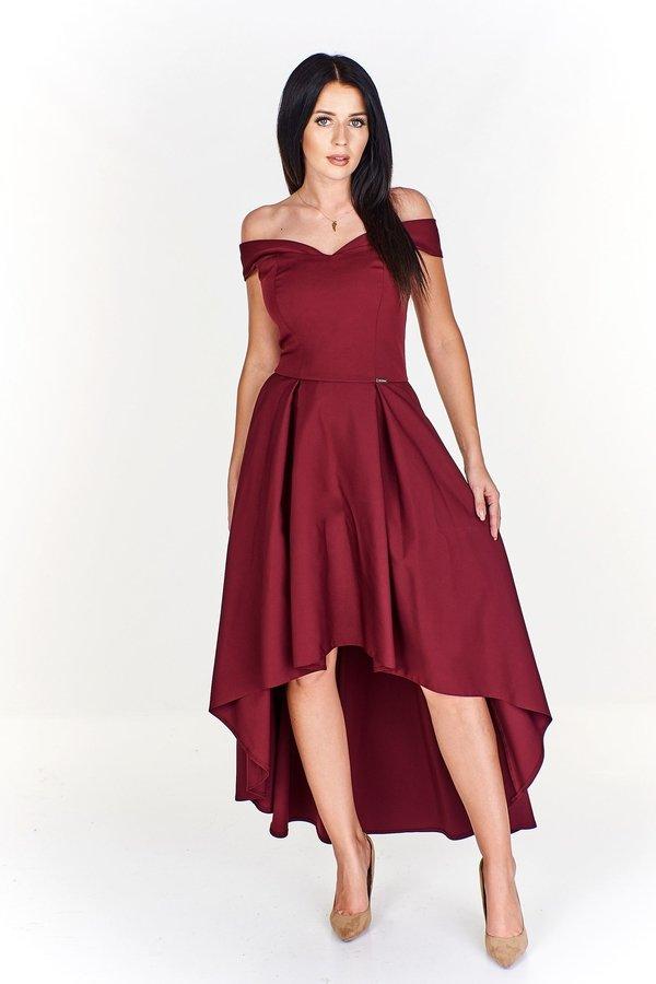 3f73979e22415d Zjawiskowa Sukienka Z Asymetrycznym Dołem I A'La Opadającymi ...