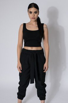 REST FACTORY - Spodnie typu cargo black