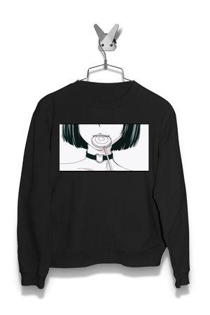 Bluza Anime Japan Girl z Lizakiem Męska