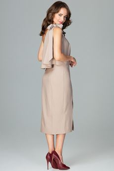 LENITIF - Sukienka K489 Beż