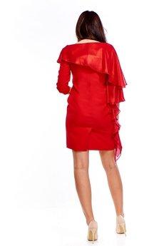Bird - Sukienka z asymetryczną a'la szarfą