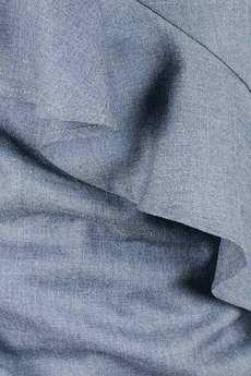 Non Tess - melanżowa niebieska koszula z falbaną