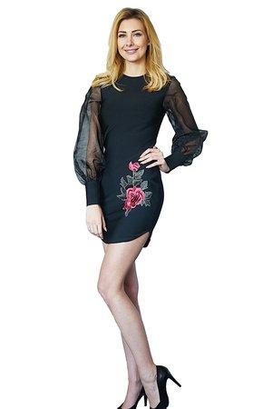 Sukienka czarna Rose
