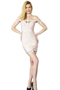 Kelly Couronne - Sukienka jasnoróżowa Alexandra
