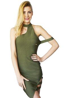 Kelly Couronne - Sukienka khaki Arletta