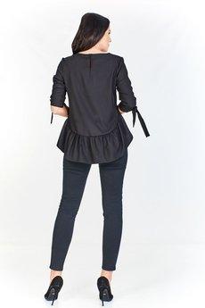 Bird - Bluzka z falbanką z dłuższym tyłem oraz wiązanymi rękawami o długości 3/4
