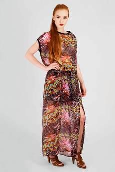 Non Tess - drukowana sukienka maksi z szyfonu