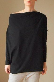 ONE MUG A DAY - Super szeroka bluzka czarna