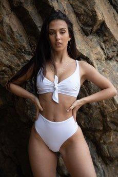 Tropiko Swimwear - TROPIKO SWIMWEAR - dół bikini SARDINIA white