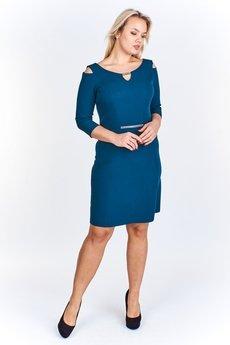 Bird - Taliowana sukienka z biżuteryjnymi detalami