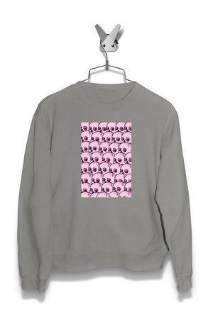 Bluza pattern Pink Skull Męska