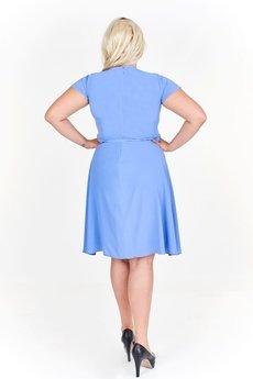 Bird - Rozkloszowana sukienka koktajlowa z krótkim rękawem