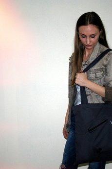 Button - Eco bag button torba grafitowa