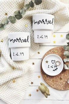 My Mug Company - #MARRIED zestaw ślubny z dowolną datą