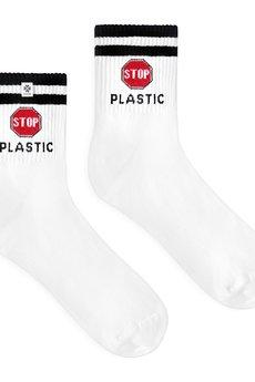 4LCK - 44LCK Modne skarpetki eko z napisem Stop Plastic