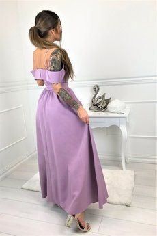 Bird - Sukienka maxi z głębokim rozcięciem