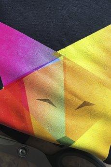 ONE MUG A DAY - Lis origami czarny oversize z