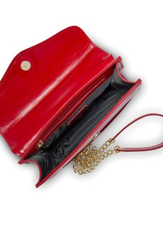 GAWOR - Elegancka skórzana kopertówka na łańcuszku