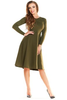 Awama - Sukienka N034 khaki