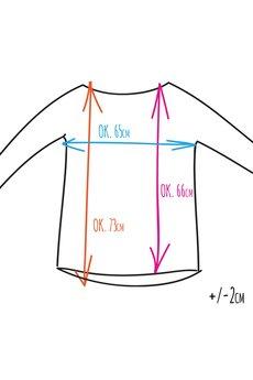 ONE MUG A DAY - Popękana bluza cięta