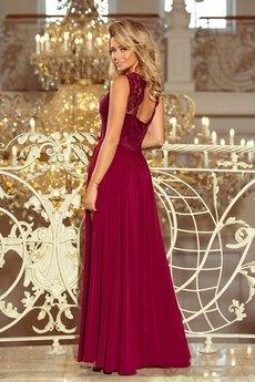 Bird - Wieczorowa sukienka z koronkową górą