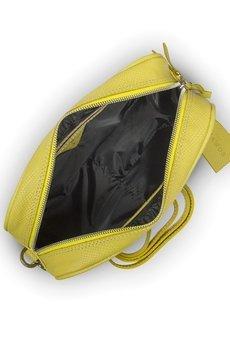 GAWOR - Skórzana żółta listonoszka