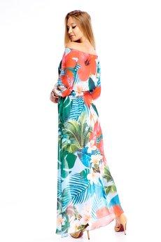 Bird - Sukienka maxi z rozporkiem