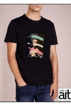 "Life is ART - T-shirt : ""Dama w niebieskiej  sukni """