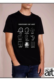"Life is ART - T-shirt : ""  Historia sztuki  """