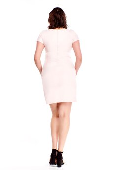 Bird - Ołówkowa sukienka z wyszywanym wzorem
