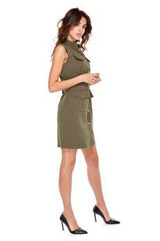 Ooh la la - Sukienka Military krótki rękaw