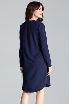 LENITIF - Sukienka031 Granat